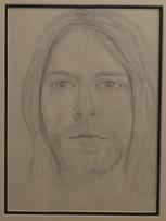"Kurt Cobain, Pencil Sketch Portrait (12x14"")"