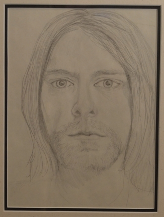 "Kurt Cobain, Pencil Sketch Portrait (12x14"")"