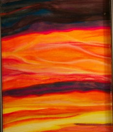 """""""Sky Aflame"""" Detail"""