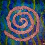 """Purple Swirl"" Acrylic, 12x12"""