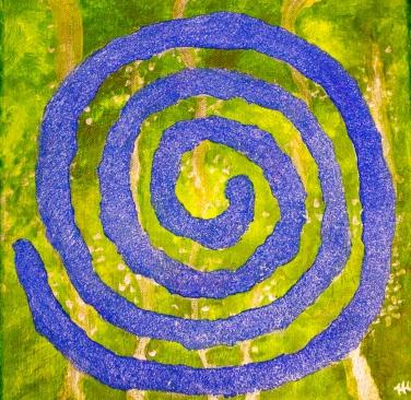"""Blue Swirl"" Acrylic 12x12"""