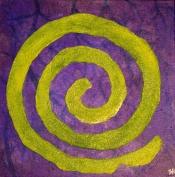 """Green Swirl"" Acrylic 12x12"""