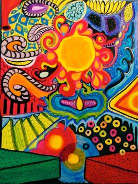 """Stream of Consciousness"" Acrylic (16x20"")"