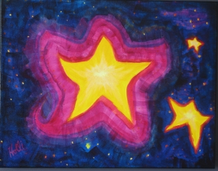 "Starry Star 14x18"" Acrylic"