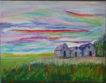 "The Granaries 14x18"" Acrylic"