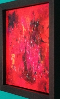 """""""Smouldering Red"""" Acrylic and Mixed Media """"24x24"""""""