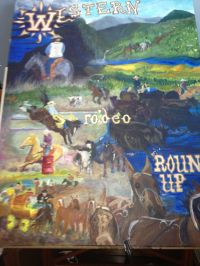 """Rodeo Poster Fantasy"" Acrylic (36x48"")"