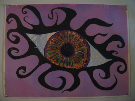 """The Eye""Silk Screen"