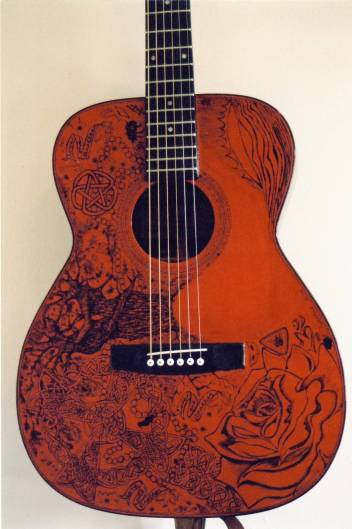 Ink and Nitrocellulous Laquer on wood laminate.