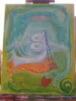 "summer 2006 14 acrylic 14x18"""